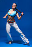 运动的年轻舞蹈家 库存照片