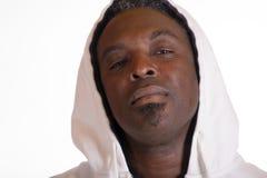 运动衫夹克的非裔美国人有敞篷的 免版税图库摄影