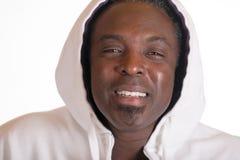 运动衫夹克的非裔美国人有敞篷的 库存图片