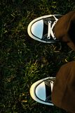 运动鞋在阳光下 图库摄影