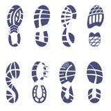 运动鞋踩集合 免版税库存图片
