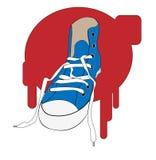 运动鞋 向量例证