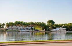 运河佛罗里达迈阿密 免版税图库摄影