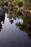 运河佛罗里达 免版税库存照片