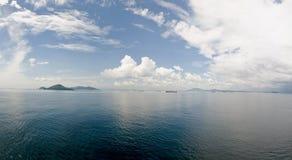 运河入口风景的巴拿马 免版税库存图片