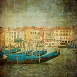 运河全部图象威尼斯葡萄酒 免版税库存图片