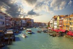 运河全部威尼斯 意大利 库存图片