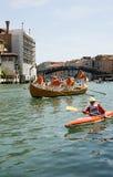 运河全部种族威尼斯vogalonga 库存照片