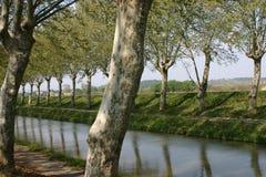 运河反映 免版税库存照片