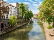 运河在乌得勒支,荷兰 库存图片
