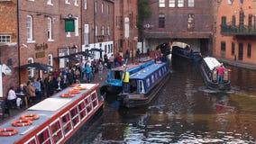运河在伯明翰,英国 图库摄影