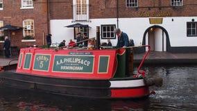 运河在伯明翰,英国 库存照片