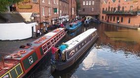 运河在伯明翰,英国 免版税图库摄影