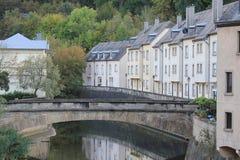运河在卢森堡 免版税库存图片