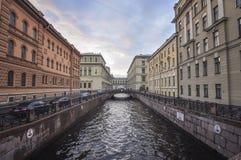 水运河在圣彼得堡 库存图片