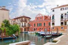 运河在威尼斯,意大利 免版税库存图片
