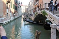 运河在威尼斯,意大利 免版税图库摄影