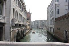 运河在威尼斯,意大利 库存照片