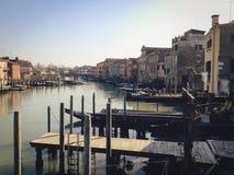 运河在威尼斯,意大利 免版税库存照片