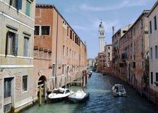 运河在威尼斯 免版税库存照片