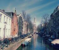 运河在市阿姆斯特丹 免版税图库摄影