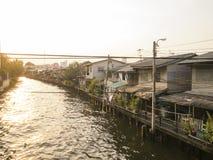 运河在曼谷 免版税库存图片