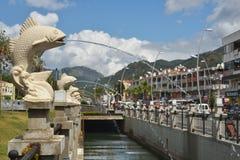 运河在马尔马里斯港,土耳其 免版税图库摄影