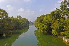 运河在维杰亚瓦达 免版税库存照片