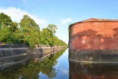 运河在Kronstadt 免版税图库摄影