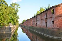 运河在Kronstadt 免版税库存照片