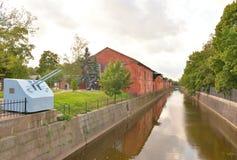 运河在Kronstadt 库存图片