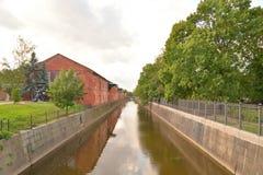 运河在Kronstadt 免版税库存图片