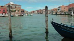 运河在Murano海岛  免版税库存照片