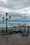 运河多云日全部威尼斯 免版税库存照片