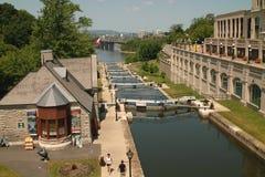 运河安大略渥太华rideau 免版税图库摄影