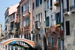 运河安置威尼斯 免版税库存图片