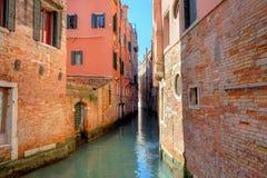 运河安置意大利缩小的老威尼斯 库存图片