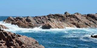 运河岩石, Yallingup,西澳州 免版税库存照片