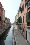 运河意大利缩小的威尼斯 免版税库存图片