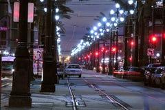 运河晚上街道 库存照片