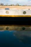 运河游艇在英国 免版税库存图片