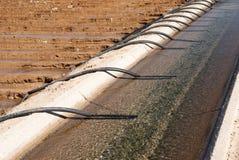运河灌溉虹吸管管 库存照片