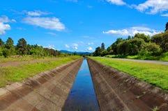运河灌溉 免版税图库摄影