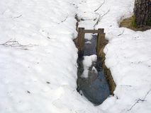 运河用融解水 库存图片