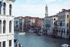 运河的看法重创在威尼斯 图库摄影