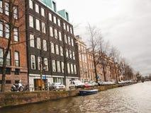 运河的议院在阿姆斯特丹。荷兰 库存图片