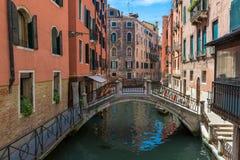 运河看法在威尼斯 免版税库存图片
