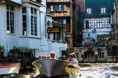运河看法在布鲁日,比利时 免版税库存图片