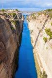 运河科林斯湾希腊 库存图片