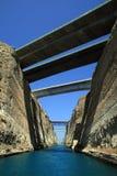 运河科林斯湾希腊 免版税库存照片